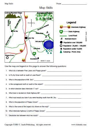 snapshot image of map skills worksheet 2 homeschool