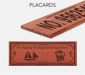 vessel placards offers uscg official number plates for With uscg documentation number plaque