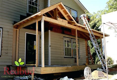 cost to build a front porch how to build a roof over a deck aeroc club
