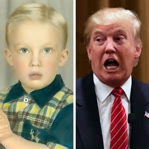 Donald Trump When Was a Little Boy