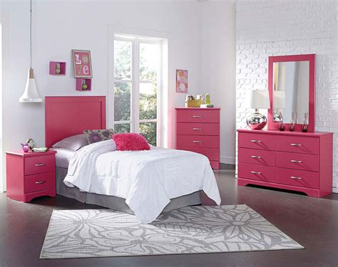 Pink Bedroom by Bed Room Set In White And Pink Urbanewood