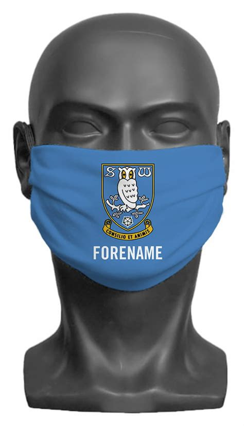 Personalised Sheffield Wednesday FC Crest Adult Face Mask ...
