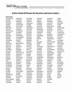action verbs phrases for resumes and cover letters With strong words for cover letter