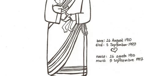 blessed mother teresa coloring page coloring pages