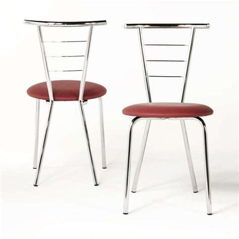 chaises cuisine chaise de cuisine en métal valérie 4 pieds tables