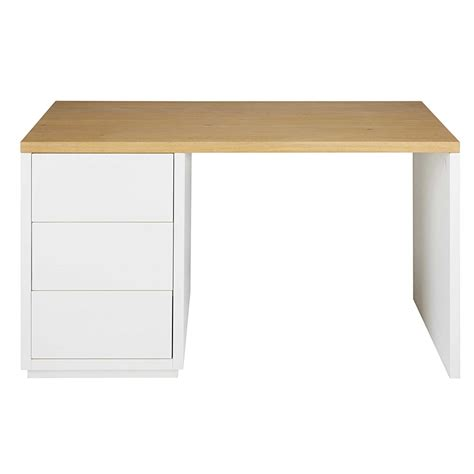 bureau en l bureau en chêne massif blanc l 140cm austral maisons du