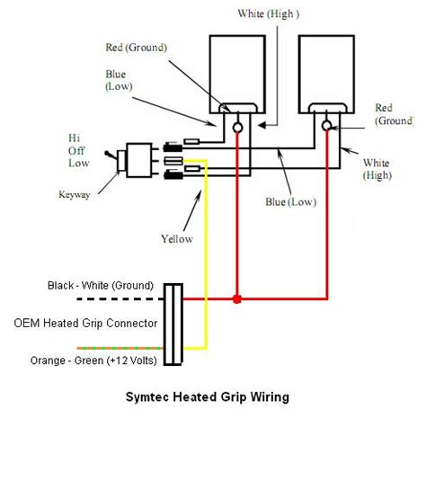 symtec heated grip wiring diagram