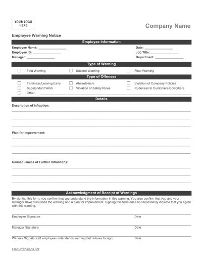 business write up forms download employee write up form pdf rtf word