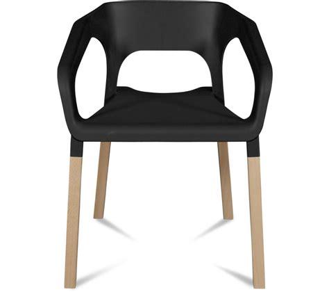 chaises carrefour lot de 2 chaises kraft hêtre massif noir chaises