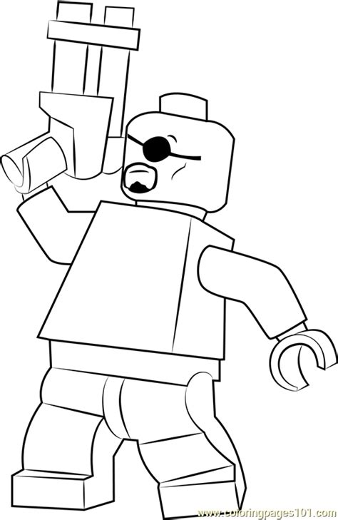 lego nick fury coloring page  kids  lego