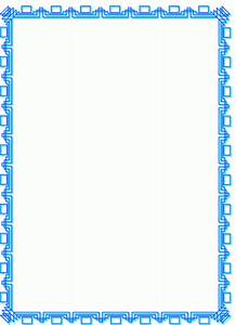 Rahmen Blaue Ecken Ausmalbild Malvorlage Rahmen