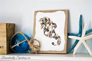 DIY Seashell Seahorse Craft - Domestically Speaking