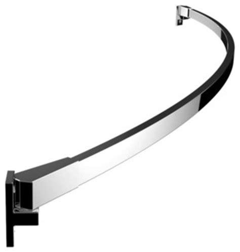 curved rectangular shower rod polished chrome modern