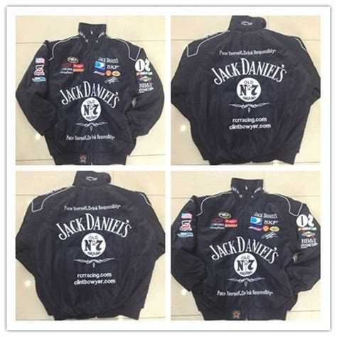 Is size small height 5'8. JACK DANIELS Embroidery Cotton Nascar Moto Car Team Formula1 Racing Jacket Suit | eBay