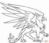 Griffin Coloring Pages Griffon Printable Cute Gryphon Drawing Sheets Adult Colouring Drawings Print Animals sketch template