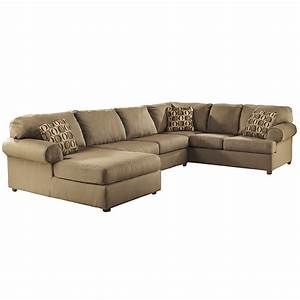 Furniture charcoal sectional with chaise ashley for Broyhill sectional sofa with chaise