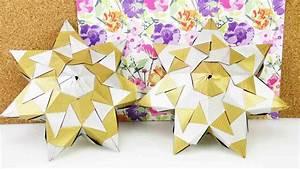 Origami Stern 5 Zacken : diy stern flacher bascetta stern aus 21 elementen mit 7 zacken 3d st krummbeins ~ Watch28wear.com Haus und Dekorationen