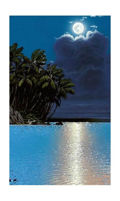 Moon Nature Paisajes Luna Google Moonlight Fantasy