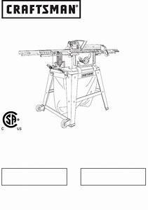 Craftsman Saw 137 21807 User Guide