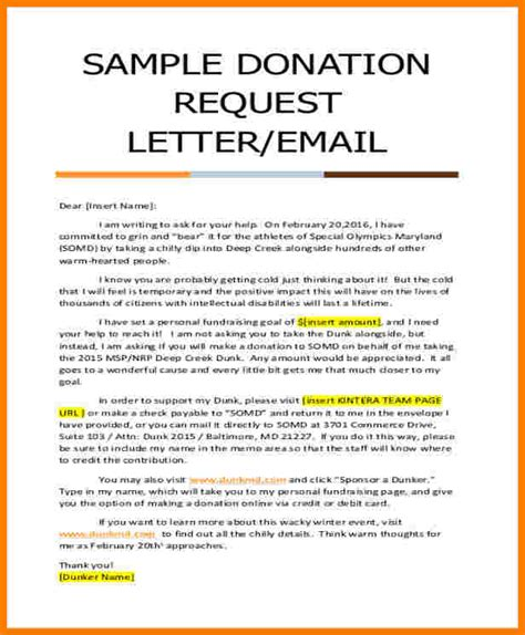 donation request letter  church sales slip template