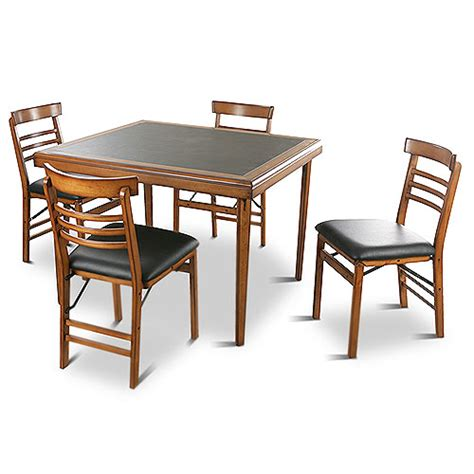 wood card tables and chairs marceladick