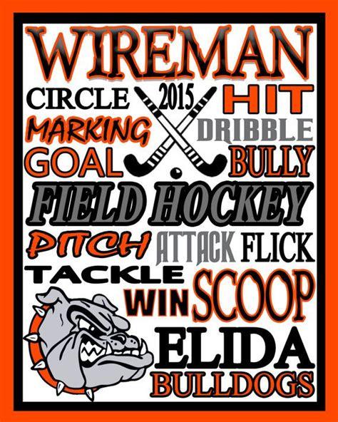 94+ Hockey Posters Ideas - Blue Orange Illustrated Hockey