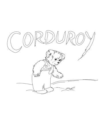 corduroy    button coloring page
