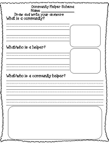 17 best images of worksheets about community helpers