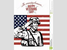 American Veterans Day Greeting Card Stock Photos Image