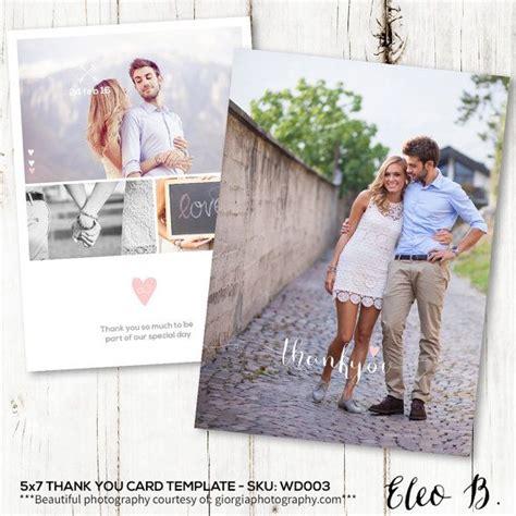 wedding thank you card photoshop template 5x7 thank you card wedding thank you cards set