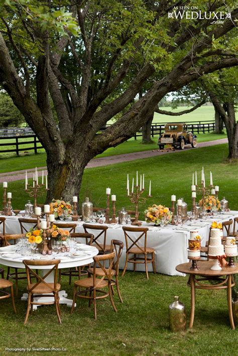 marvelous rustic chic backyard wedding party decor ideas