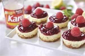 Lemon Raspberry Mini Cheesecakes are the perfect size.