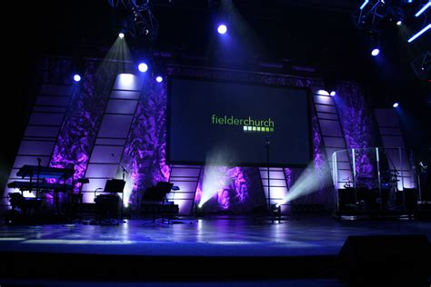 leaning panels tubes church stage design ideas