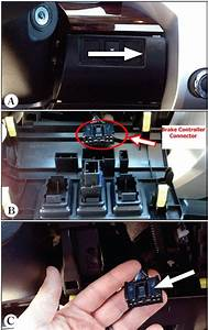 Location Of Trailer Brake Controller Connection Port On