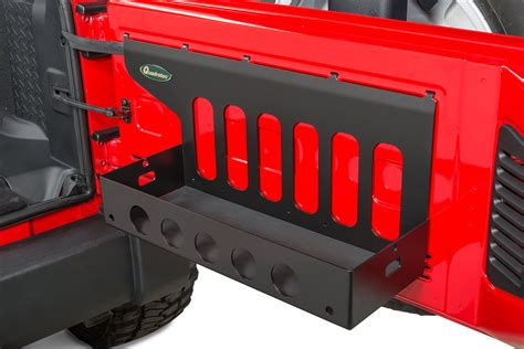 jeep tailgate storage quadratec tailgate cargo shelf for 07 18 jeep wrangler jk