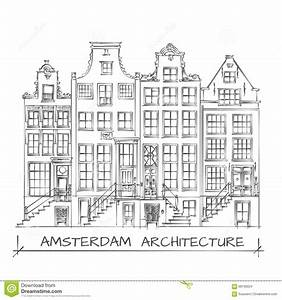 dessin d39architecture d39amsterdam illustration de vecteur With dessin plan de maison 3 dessin de ville damsterdam illustration de vecteur