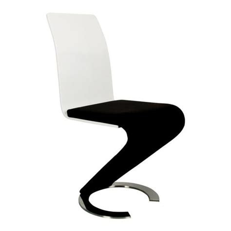 chaise design noir et blanc lot de 2 achat vente