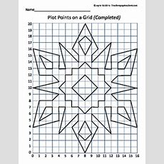 Plot Points On A Grid  Snowflake Coordinates  Math, School And Students