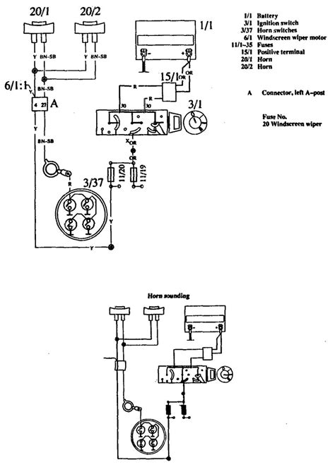 volvo 760 1990 wiring diagrams horn carknowledge