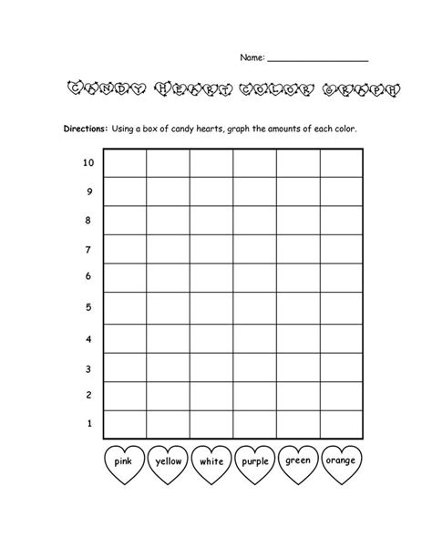 Bar Graph Template Bar Graph Template Valentines Day Color