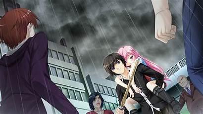 Anime Guy Rain Sword Protection Wallpapers Hurt