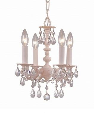blush shabby chic mini chandelier for
