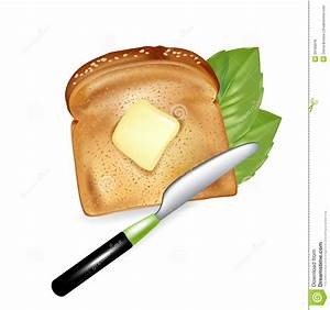 Slice Of Bread With Butter And Knife Royalty Free Stock ...