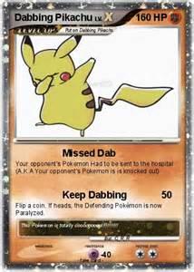 Dabbing Pokemon Pikachu