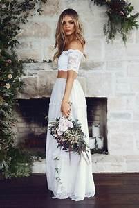 Robe Blanche Longue Boheme : robe de mari e boh me chic choisissez votre mod le ~ Preciouscoupons.com Idées de Décoration