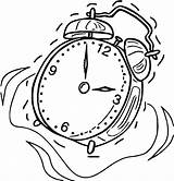 Coloring Clock Alarm Printable Cartoonized Pages Wecoloringpage sketch template