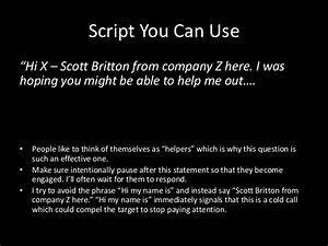 what not to do when cold calling With cold call script template