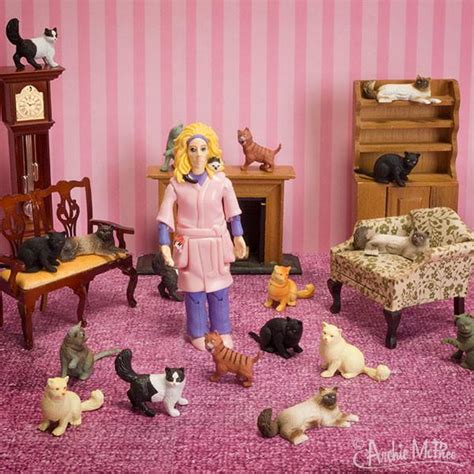 crazy cat lady action figure archie mcphee