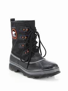 Sorel Caribou Xt Winter Boots in Black for Men | Lyst