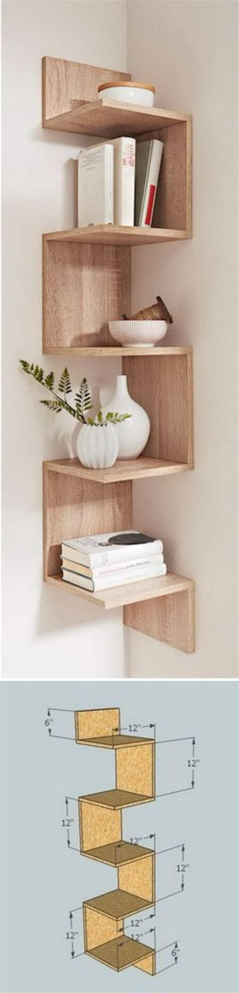 wood corner shelves 20 diy corner shelves to beautify your awkward corner 2017 Diy